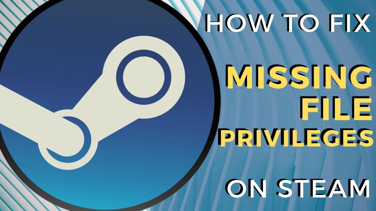 Steam Missing File Privilege Error