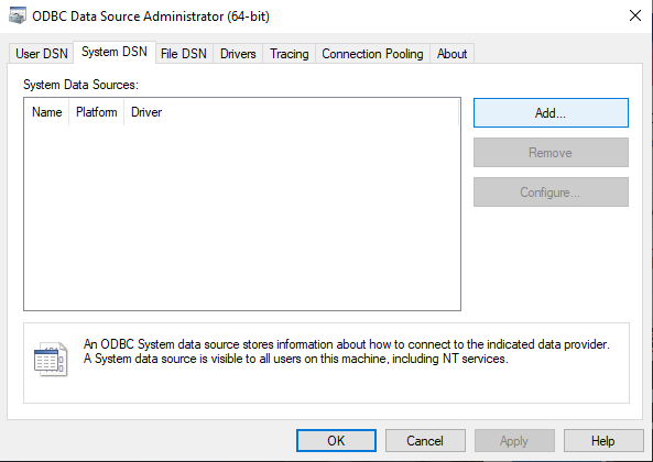 add system dsn-9