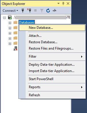 create new database-2