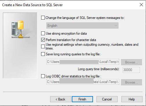 finish creating data source-14