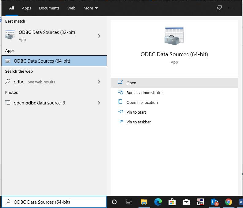 open odbc data source-8