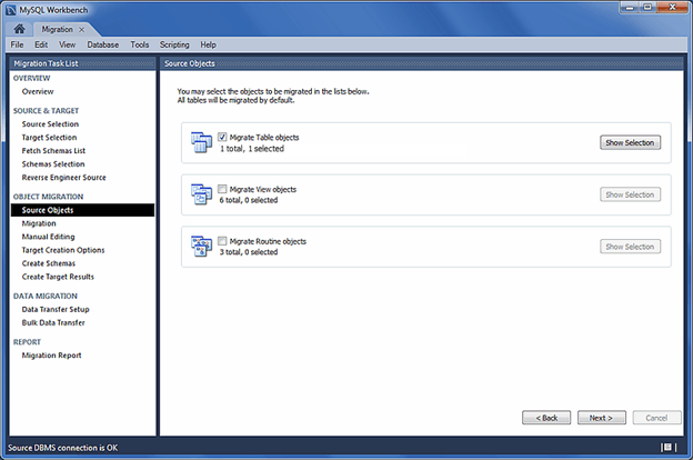 select sql database objects to be converted-31
