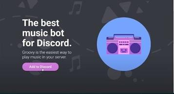 Add to Music Bot Discord