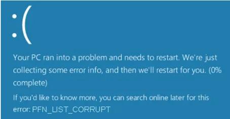 Fix PFN_List_Corrupt Error