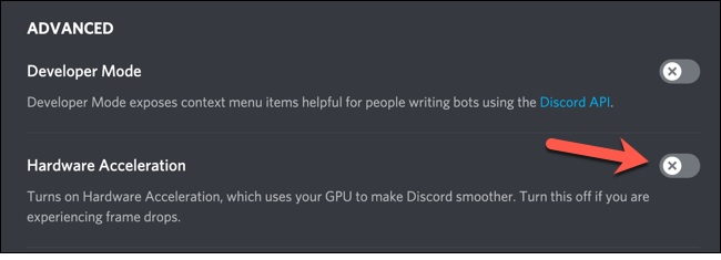 Discord-Disabled-Hardware-Acceleration