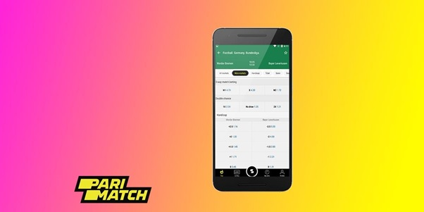 Features of the PariMatch app