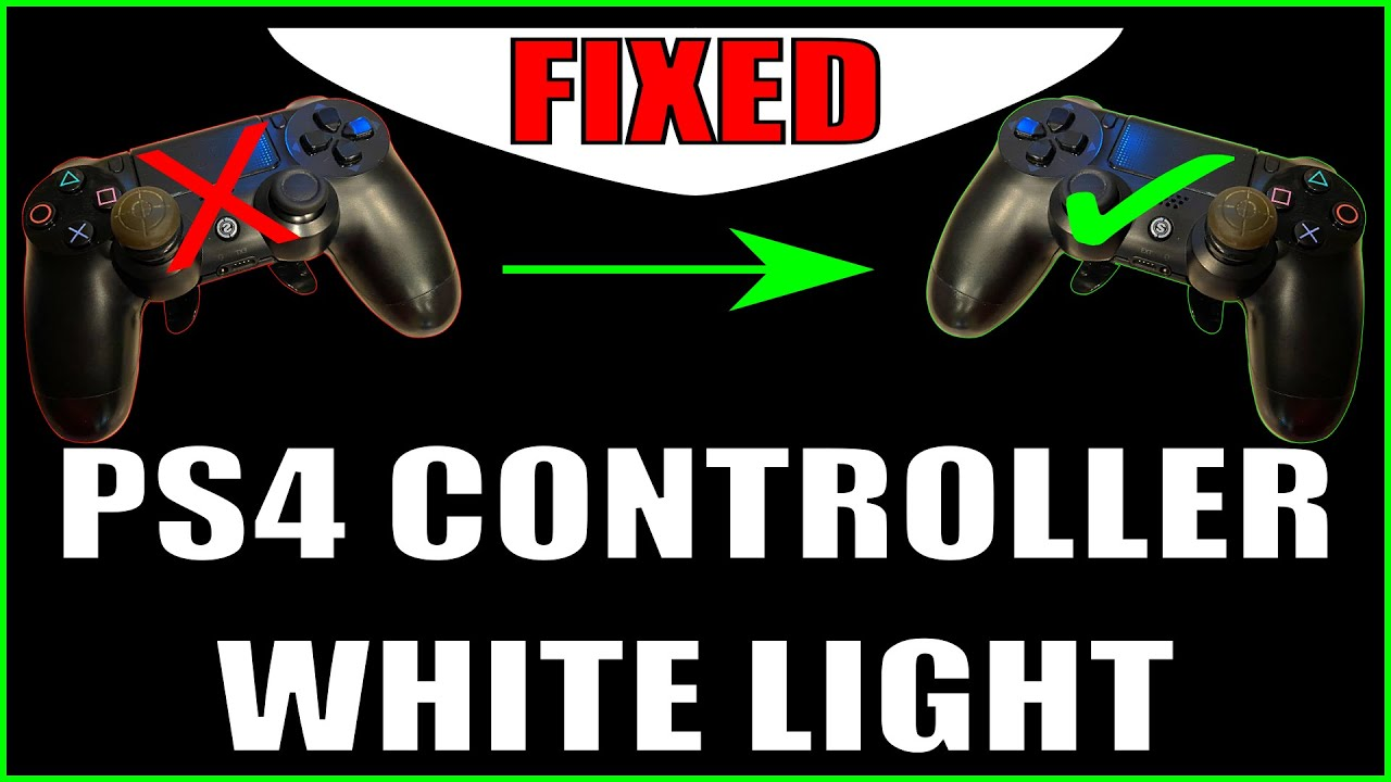 Solve PS4 Controller Flashing White Light Issue