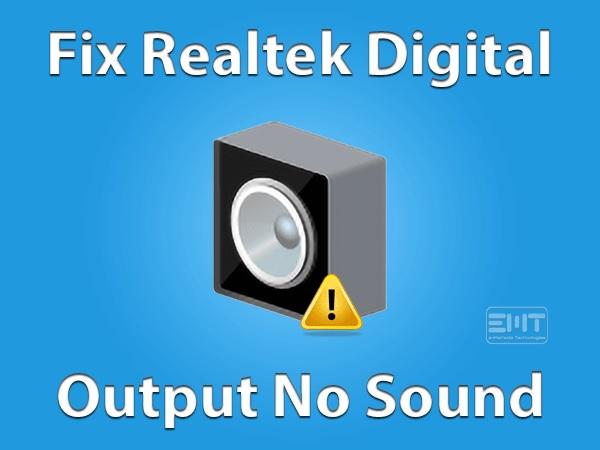 Enable Realtek Digital Output In Windows 10
