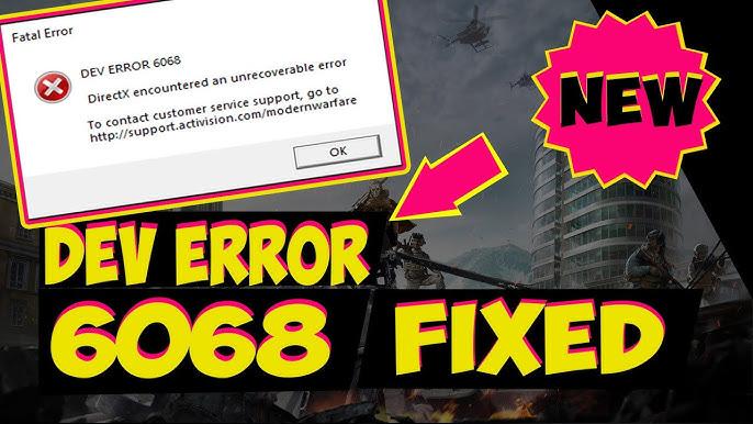 Fix Call of Duty Warzone Dev Error 6068