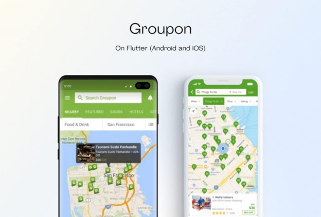 Groupon on Flutter Android and iOS