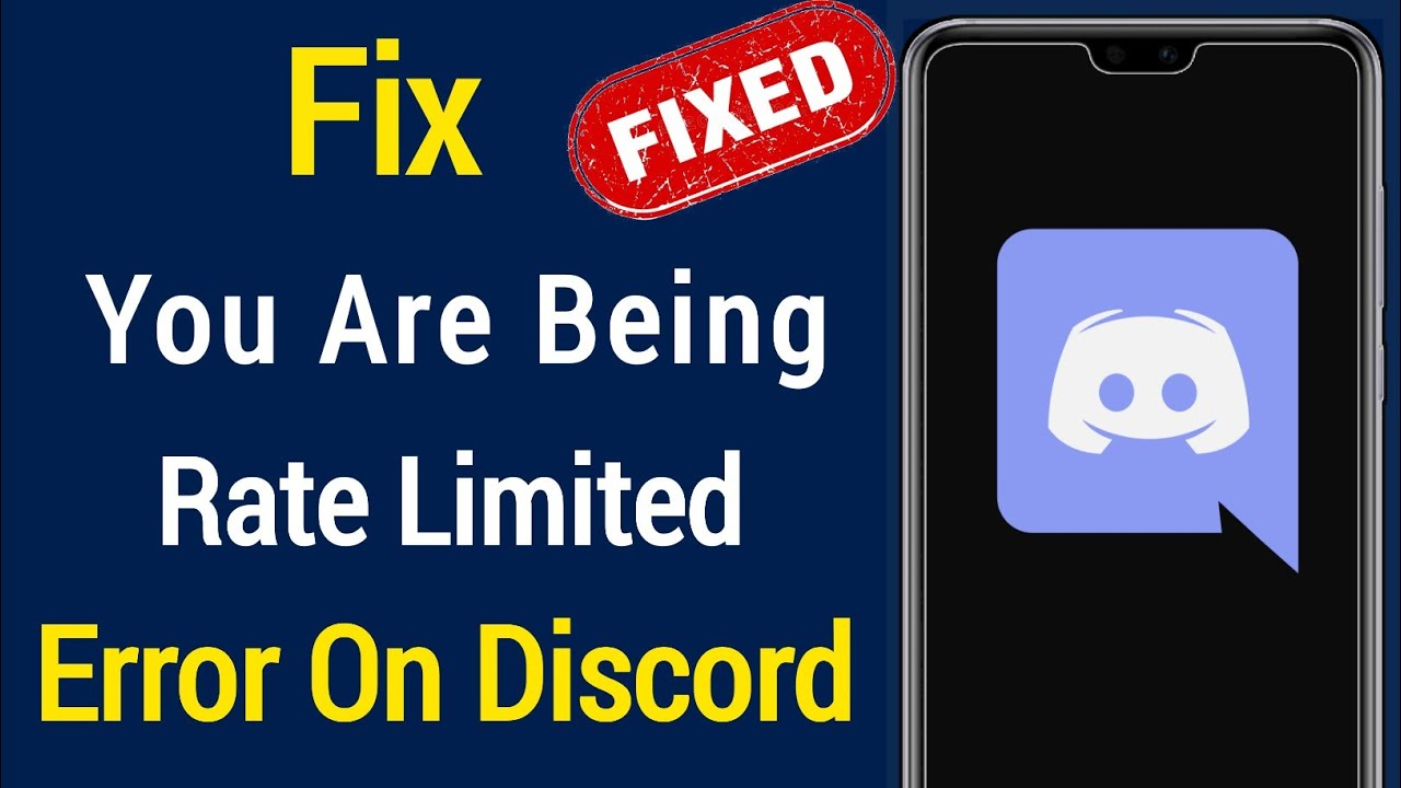 How to Fix Discord You Are Being Rate Limited Error