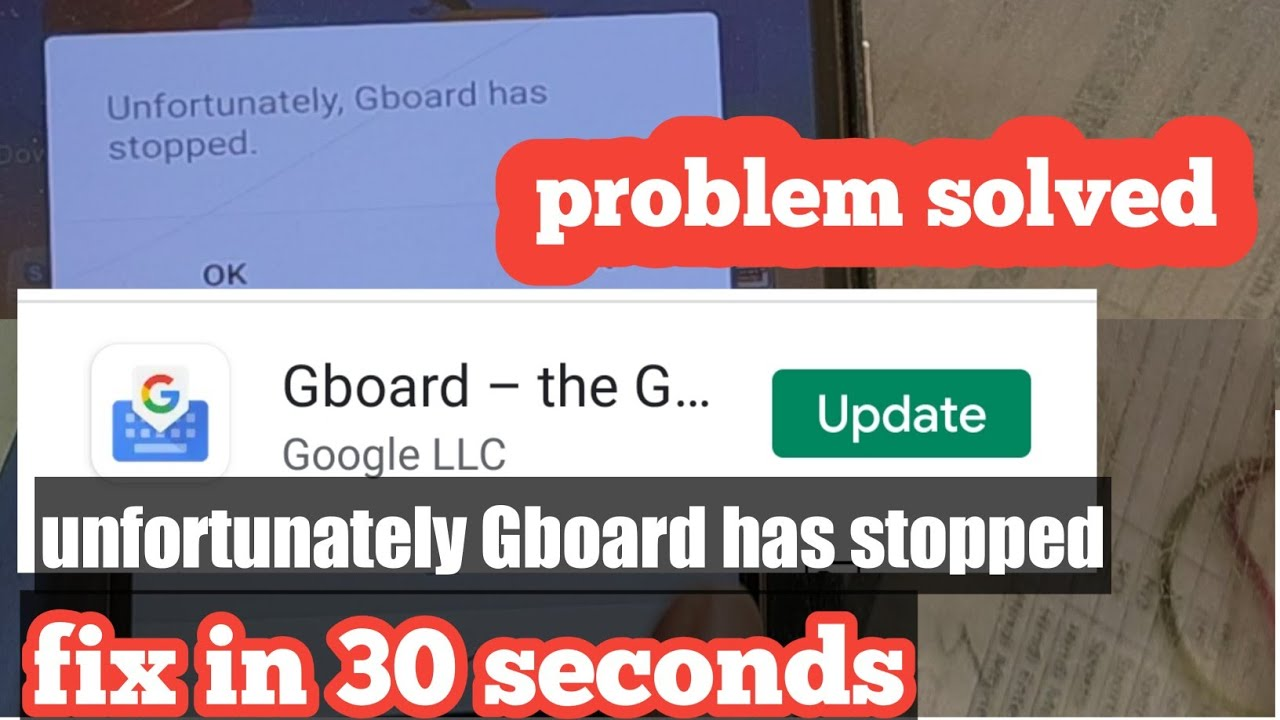 Unfortunately Gboard Has Stopped Working