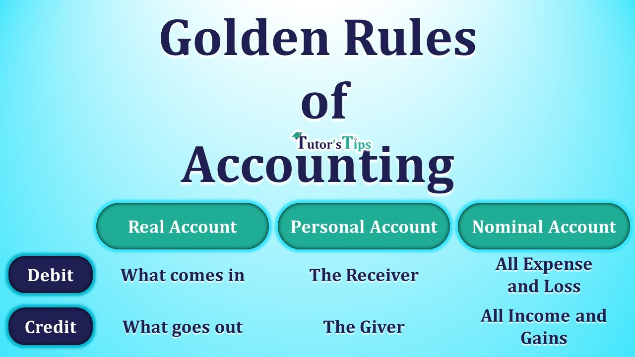 What Are The Golden Rules Of Accounting