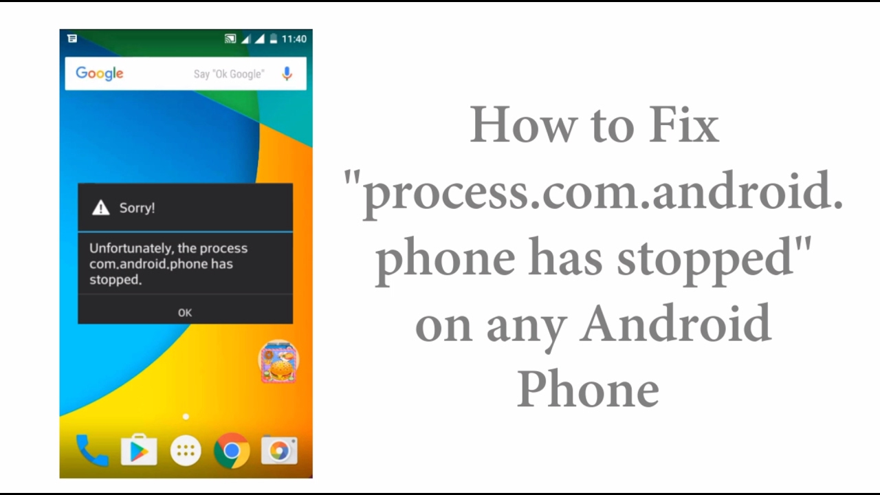 Why com.Android.phone has stopped