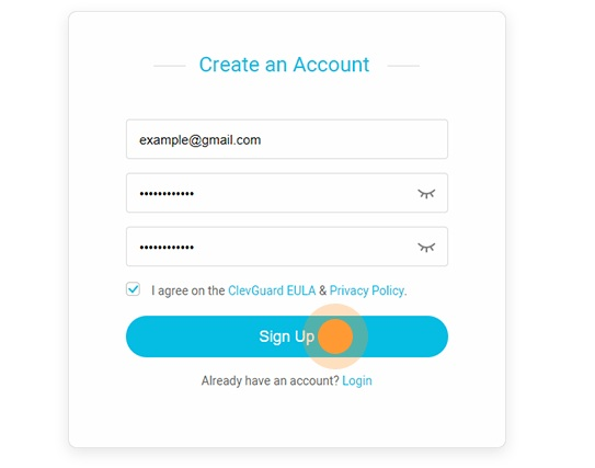 Register an account in the KidsGuard Pro with a valid subscription plan