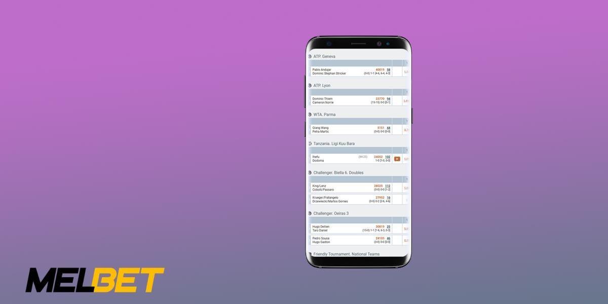 Melbet Mobile application