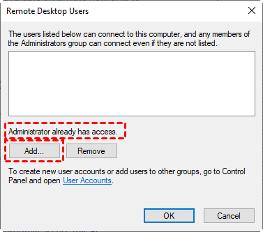 Remote Desktop Users