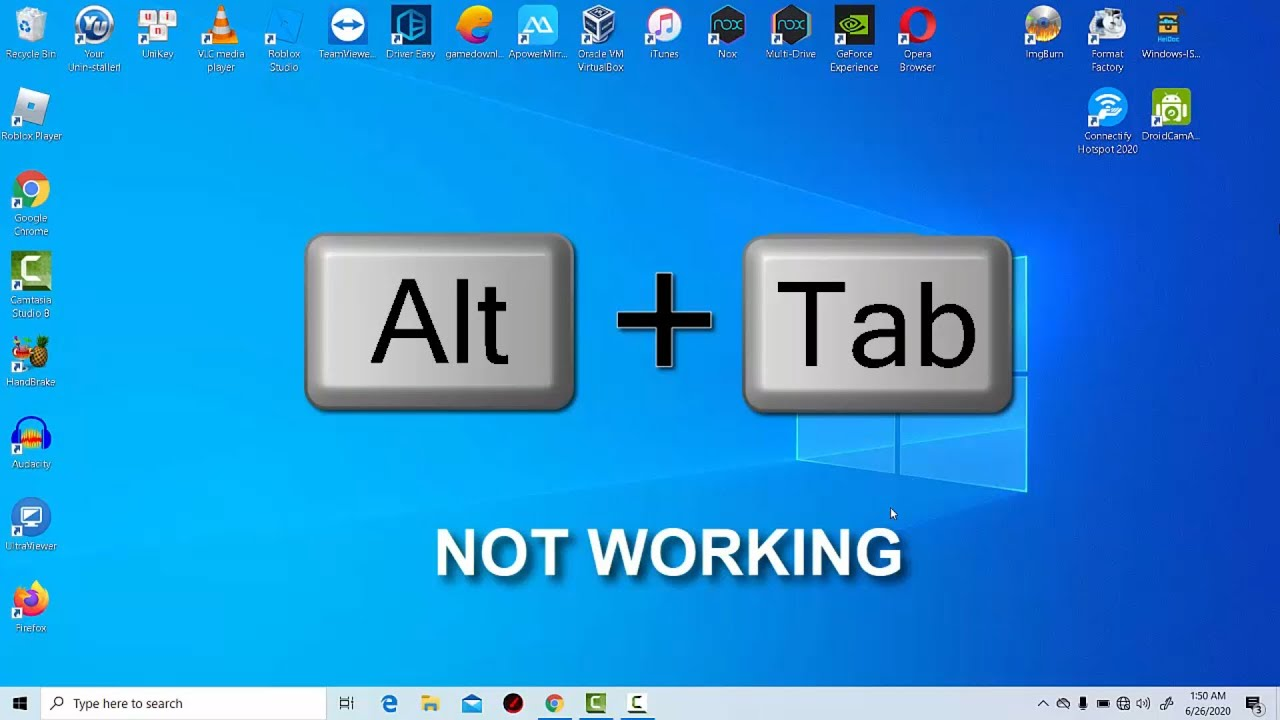Resolve Alt Tab Not Working Error