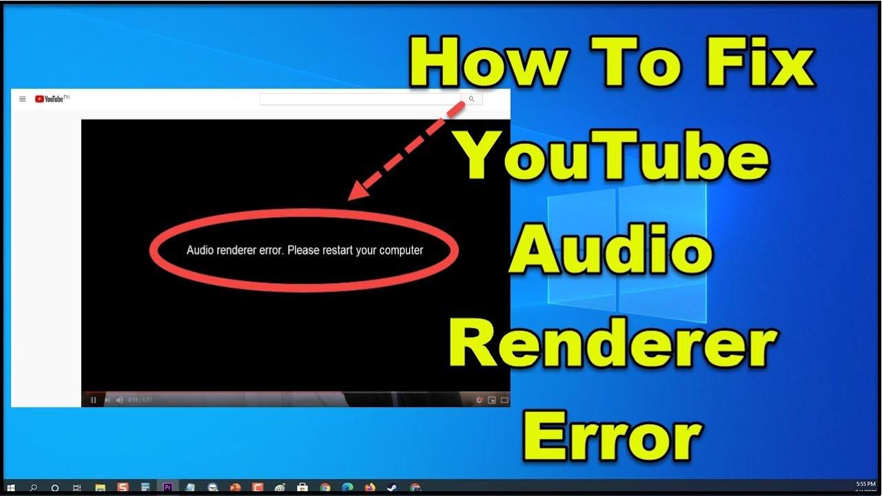 Resolve Audio Renderer Error YouTube