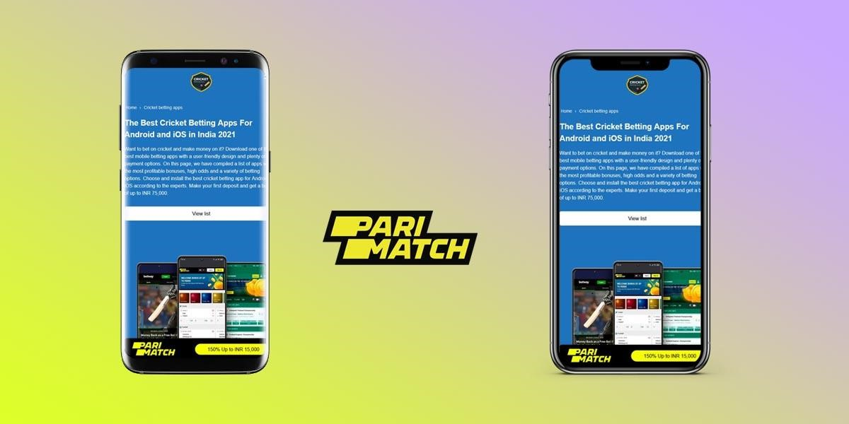 Parimatch App download app for Android and iOS